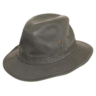 3e5cacb1b26143 Stetson Hats Crushable Canvas Safari Fedora - Olive Olive X-LARGE:  Amazon.co.uk: Clothing