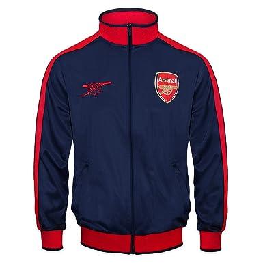 1b85ecf6a7400 Arsenal FC - Chaqueta de entrenamiento oficial - Para niño - Estilo retro -  Azul marino