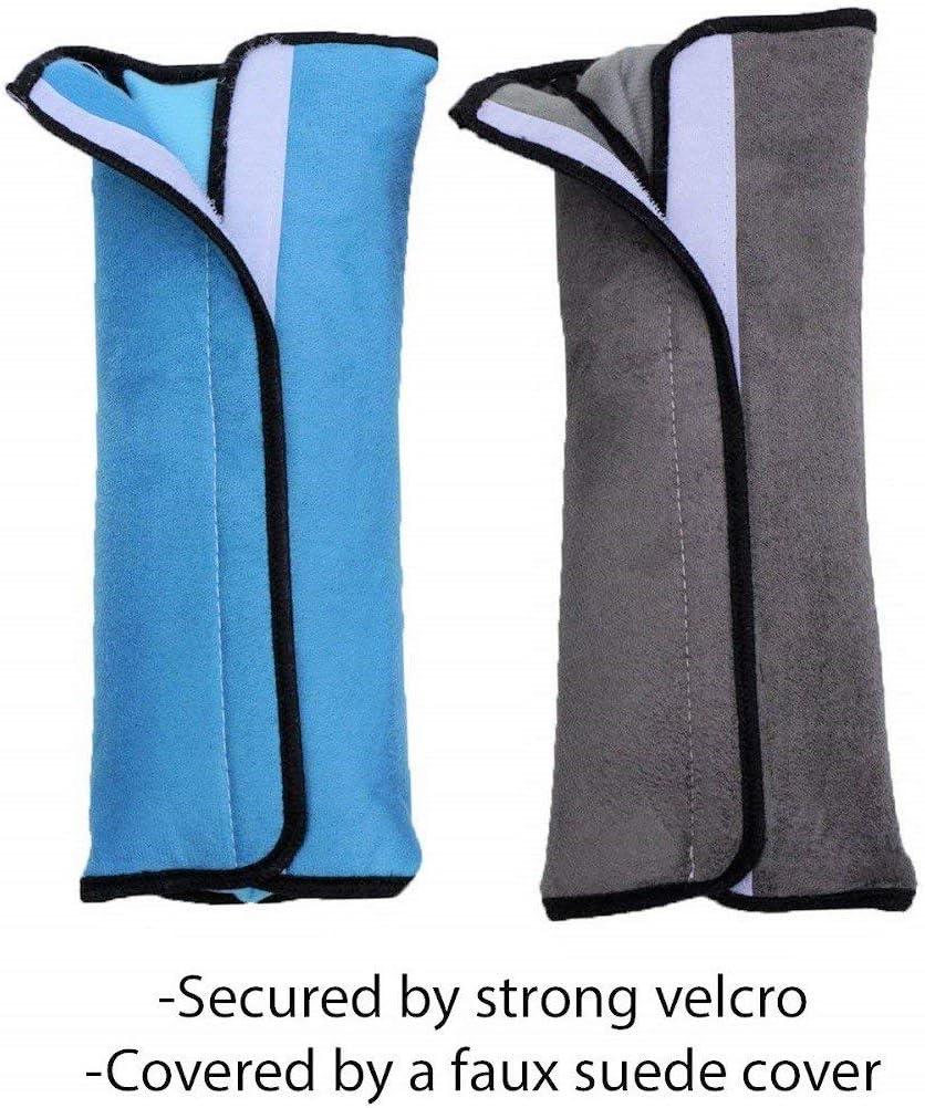 Gris /& Rosa 2Pcs Almohadilla Cinturon Seguridad Para Ni/ños y Beb/és,Cintur/ón de seguridad para ni/ños cinturones de seguridad de coches Protector de hombro almohada