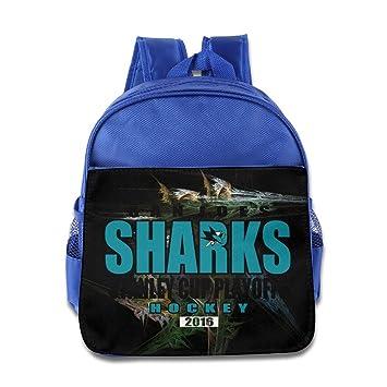 1b6495fb3651 Amazon.com  Jade Custom Funny San Jones Ice Hockey Team Logo 2016 Kids  Children School Bag Backpack For 1-6 Years Old RoyalBlue  Home   Kitchen