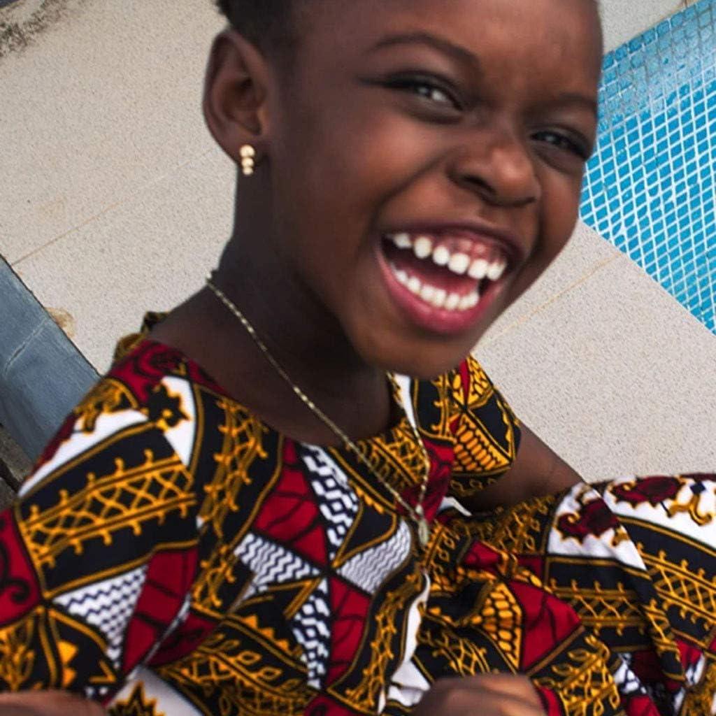 WOCACHI 2020 Summer Toddler Little Girls Dashiki African Dresses Girl Ethnic Boho Digital Print Style Long Maxi Dress