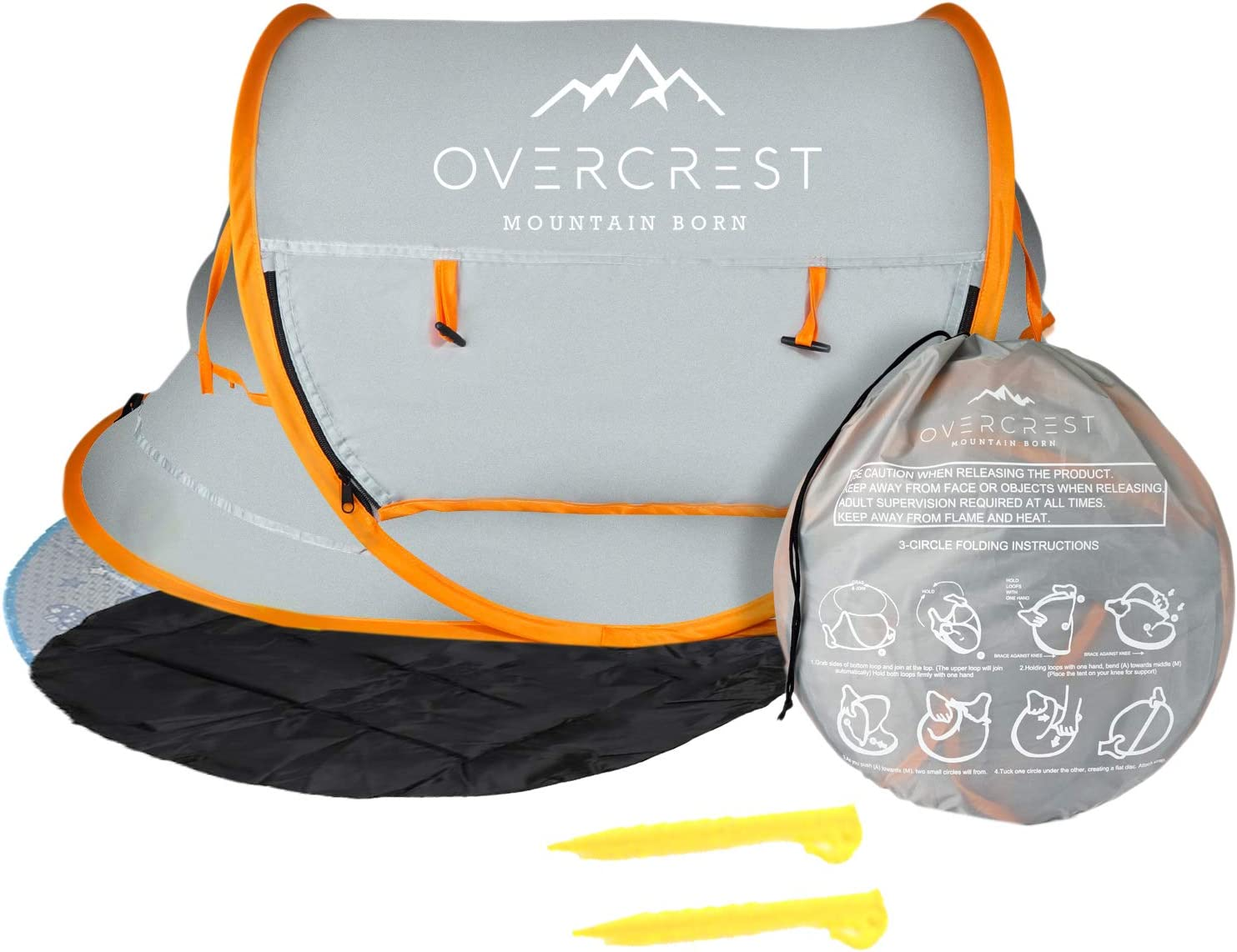 Overcrest Portable Beach Pop Up Tent