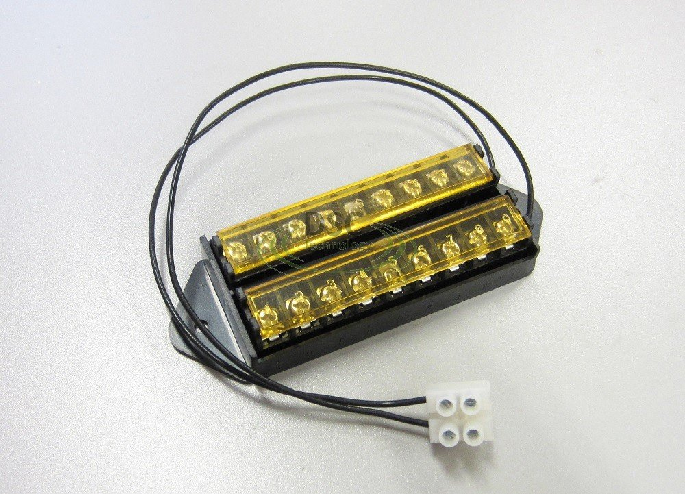 Splits 1 Input to 8 Out 18AWG Power Lead and with Cover 8 Way Terminal Block Bus Bar