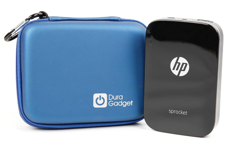 DURAGADGET Excelente Funda Rígida Azul para Impresora fotográfica portátil HP Sprocket | Polaroid Zip - con Mini Mosquetón