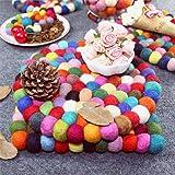 oriental spring Handmade Coasters, Wool Felt