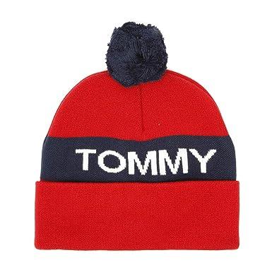 bieten viel Vereinigte Staaten am besten bewertet neuesten Tommy Hilfiger Rugby Stripe Herren Strickmütze Rot: Amazon ...