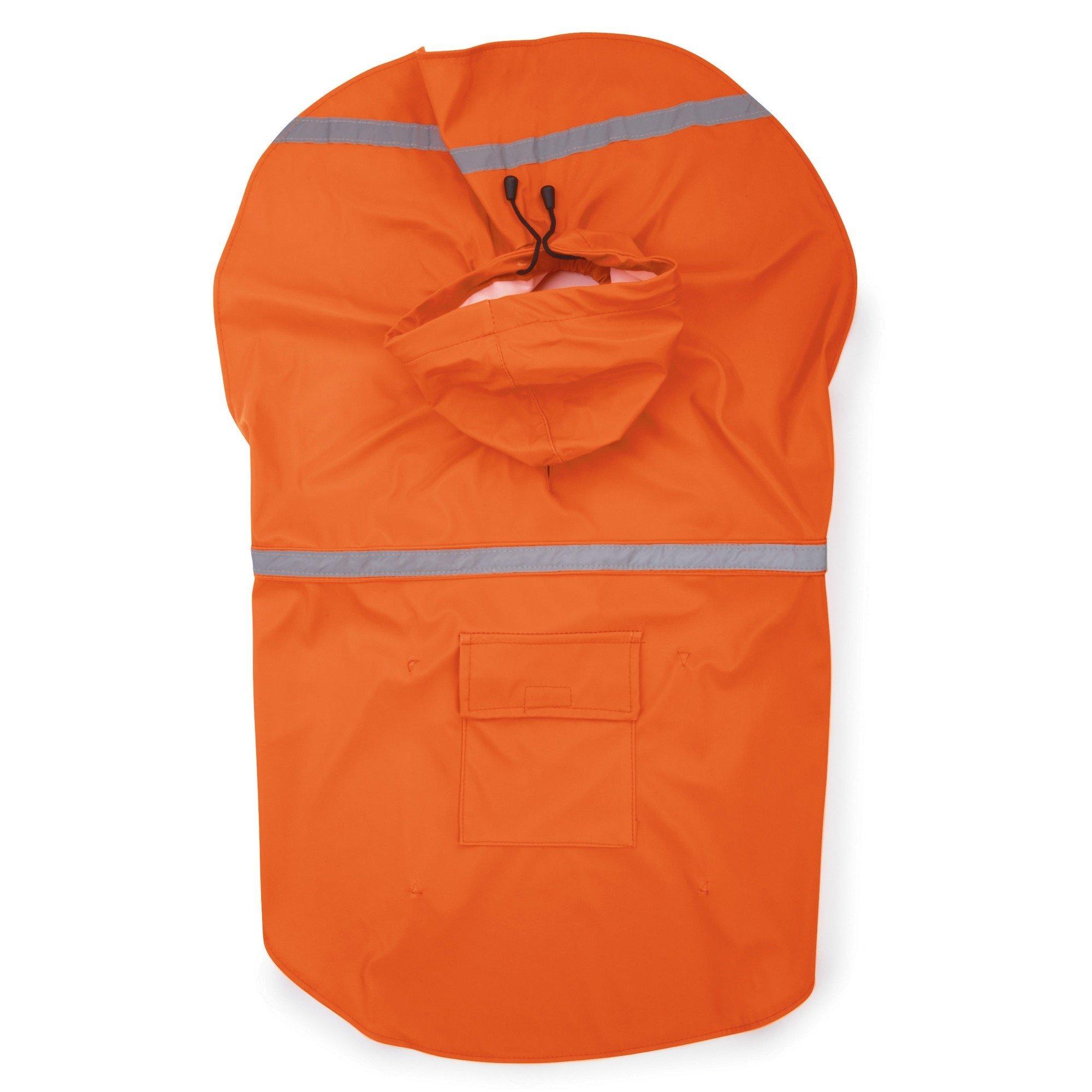 Guardian Gear Dog Raincoat Reflective Rain Jacket for Dogs Orange X-Small