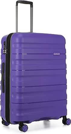 Antler Juno 2 4W Medium Roller Suitcase Hardside, Purple, 68cm