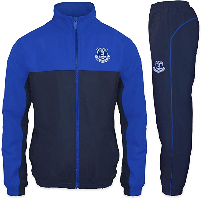 Everton FC Official Soccer Gift Boys Slim Fit Fleece Joggers Jog Pants
