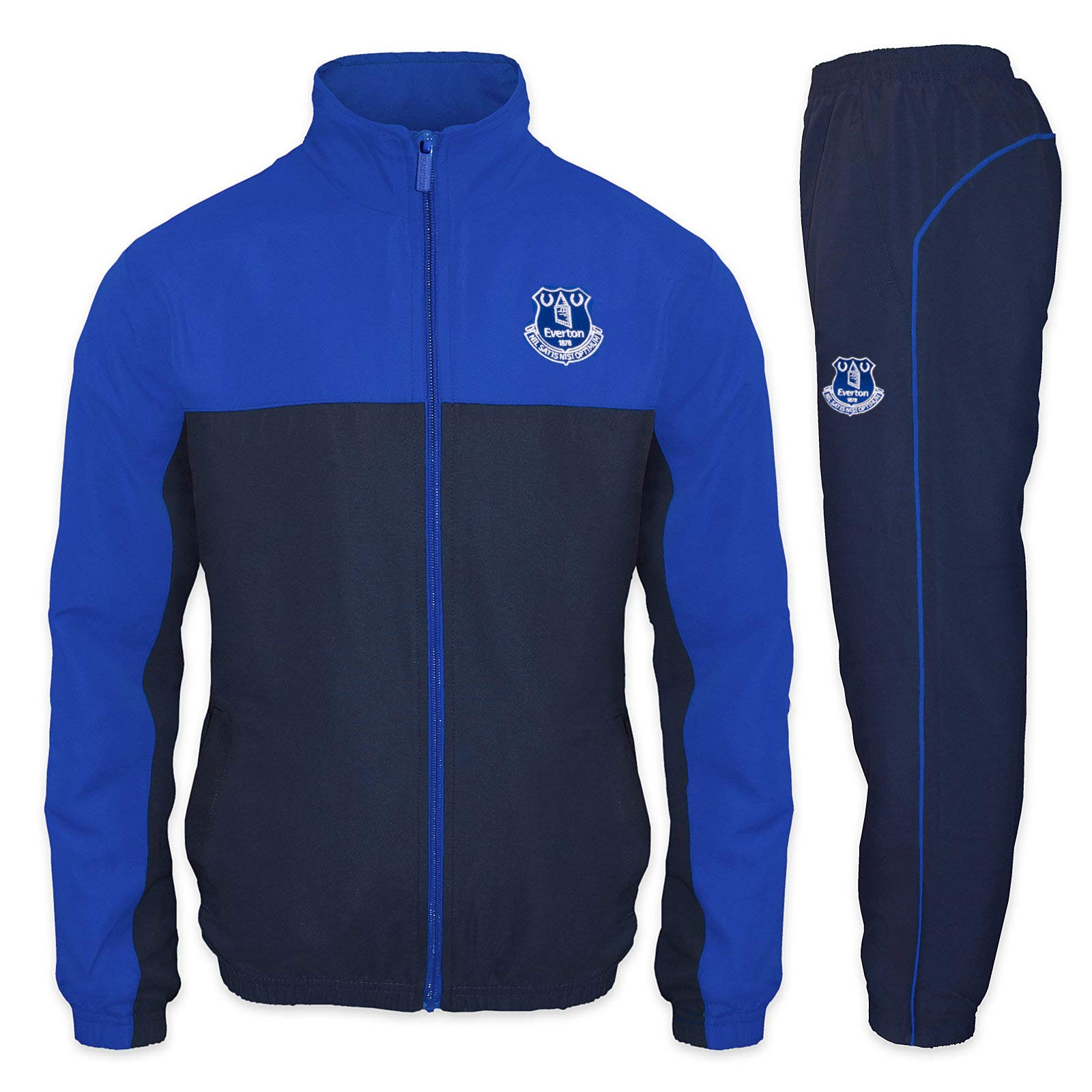 Everton FC Official Soccer Gift Boys Jacket & Pants Tracksuit Set 2-3 Years