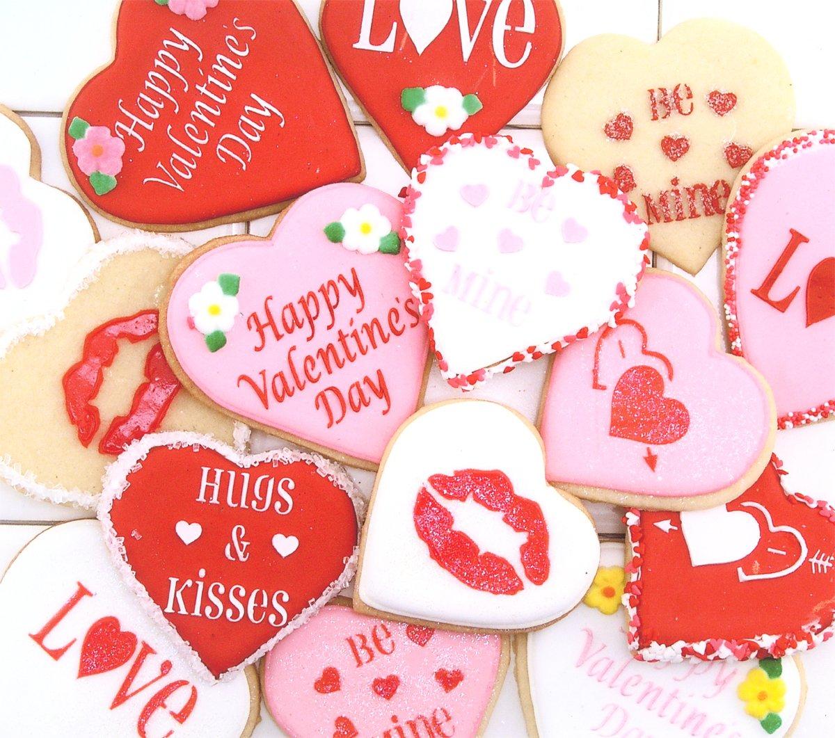 Designer Stencils C096 Valentine Cupcake/Cookie Stencils, Beige/Semi-Transparent by Designer Stencils (Image #2)