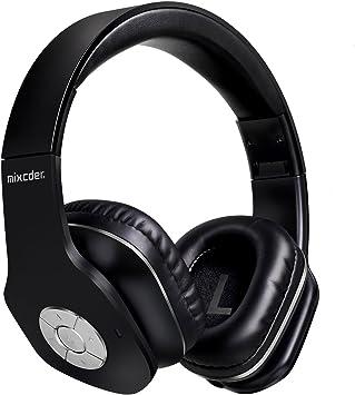 Auriculares Bluetooth de Diadema Plegable /Mixcder MSH101 V4.1 Wireless Bluetooth Auriculares/Auriculares Manos libres Micrófono incorporado/para uso como manos libres compatible con iPhone/android/PC/ Mac/TV y cualquier dispositivo Bluetooth/Color ...