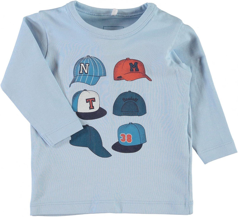 NAME IT Baby Jungen Langarmshirt nitLester Baseball Organic Cotton