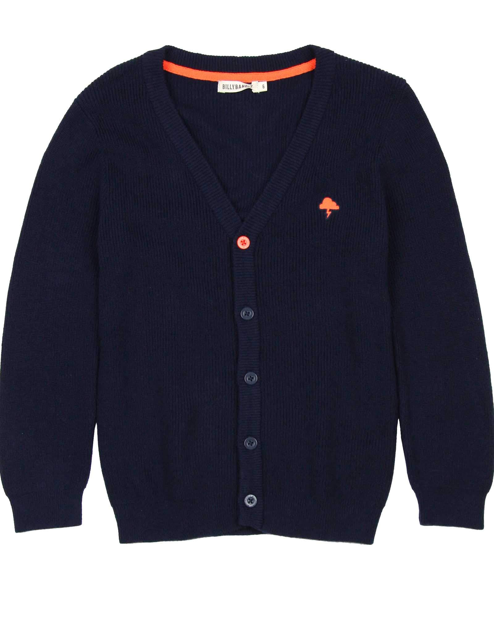 Billybandit Boys Knit Cardigan, Sizes 3-10 - 3 Navy