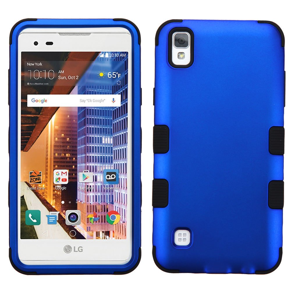 Asmyna Cell Phone Case for LG LS676 (X STYLE), LG Tribute HD - Titanium Dark Blue/Black