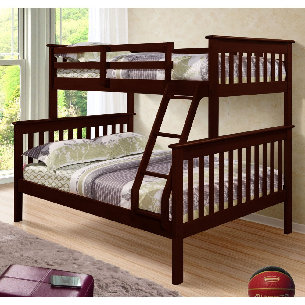 Amazon Com Donco Bunk Bed Twin Over Full Mission Style In