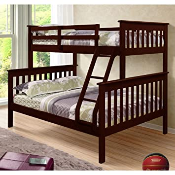 Amazon Donco Kids Twin Over Full Mission Bunk Bed Kitchen