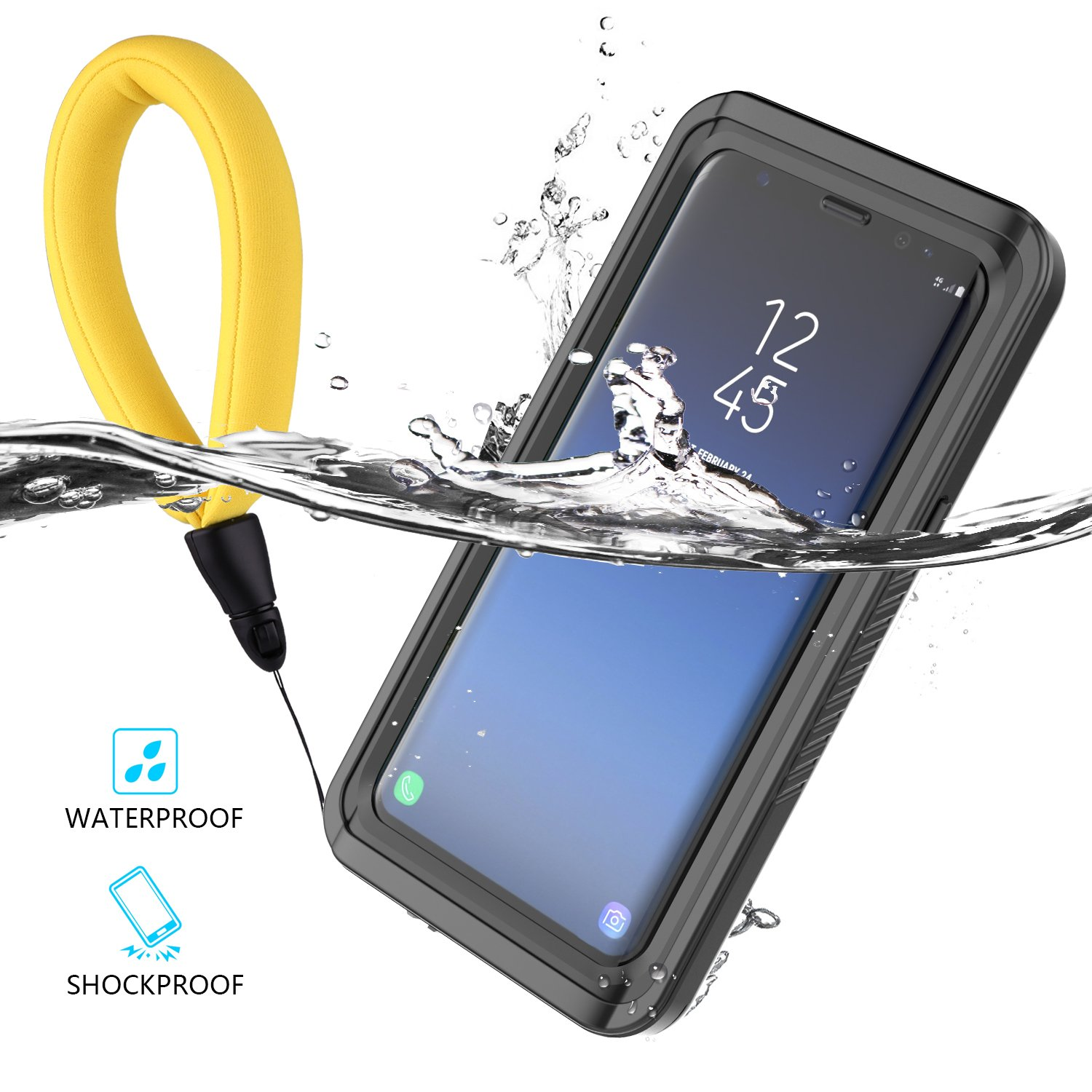 Yuqoka Compatible Samsung Galaxy S9 Plus Case Waterproof Transparent Cover Outdoor Sport Underwater IP68 Certification Full Body Protective Shockproof ...