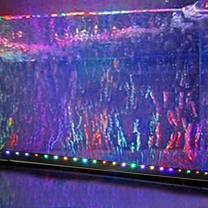 Glighone Luz Táctil de Acuario LED Burbuja 55cm 21 LEDs Lámpara de Acuario para Plantas Sumergible Luces para Peceras y Estanques RGB Impermeable, ...