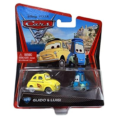 Disney Pixars Cars 2 Movie 155 Die Cast Car #10 11 Guido Luigi by Mattel: Toys & Games