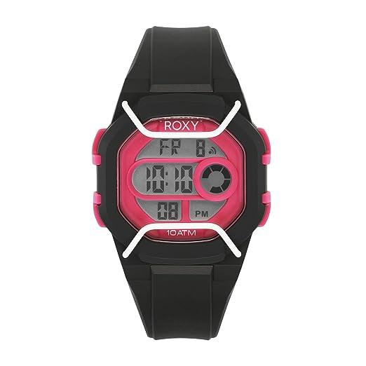 Protector de para Mujer Roxy The Digital Reloj Infantil con Mecanismo de Pantalla Digital Coronado Controls y Negro Correa de Silicona RX/1015bkpk: ...
