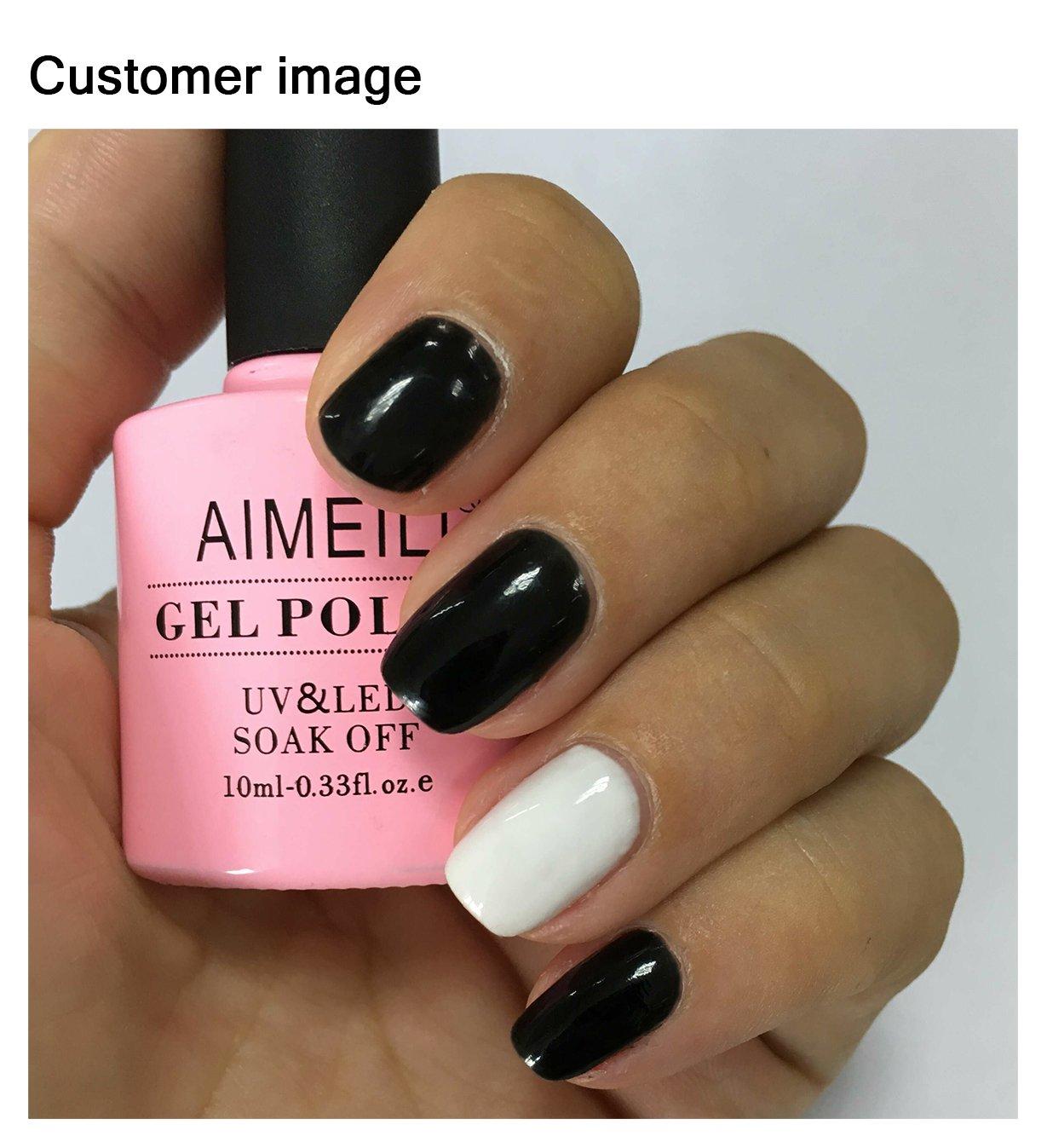 Amazon.com : AIMEILI Soak Off UV LED Gel Nail Polish - Blackpool ...