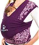 Babypeta Baby Carrier - Soft & Comfortable Colorful Wrap - Ideal Babywrap For Newborns To Toddlers - Perfect Tool For Breastfeeding & Physical Development For Your Infant - Great Gift Idea Violet