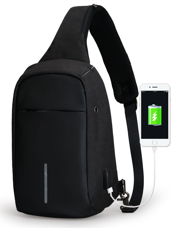 GUANKE Sling Bag Shoulder Chest Cross Body Backpack Lightweight Multipurpose Daypack