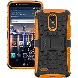 LG Stylo 3 Case, LG Stylo 3 Plus Case, OEAGO [Shockproof] [Impact Protection] Tough Rugged Dual Layer Protective Case with Kickstand for LG Stylo 3 / LG Stylo 3 Plus / LG Stylus 3 - Orange