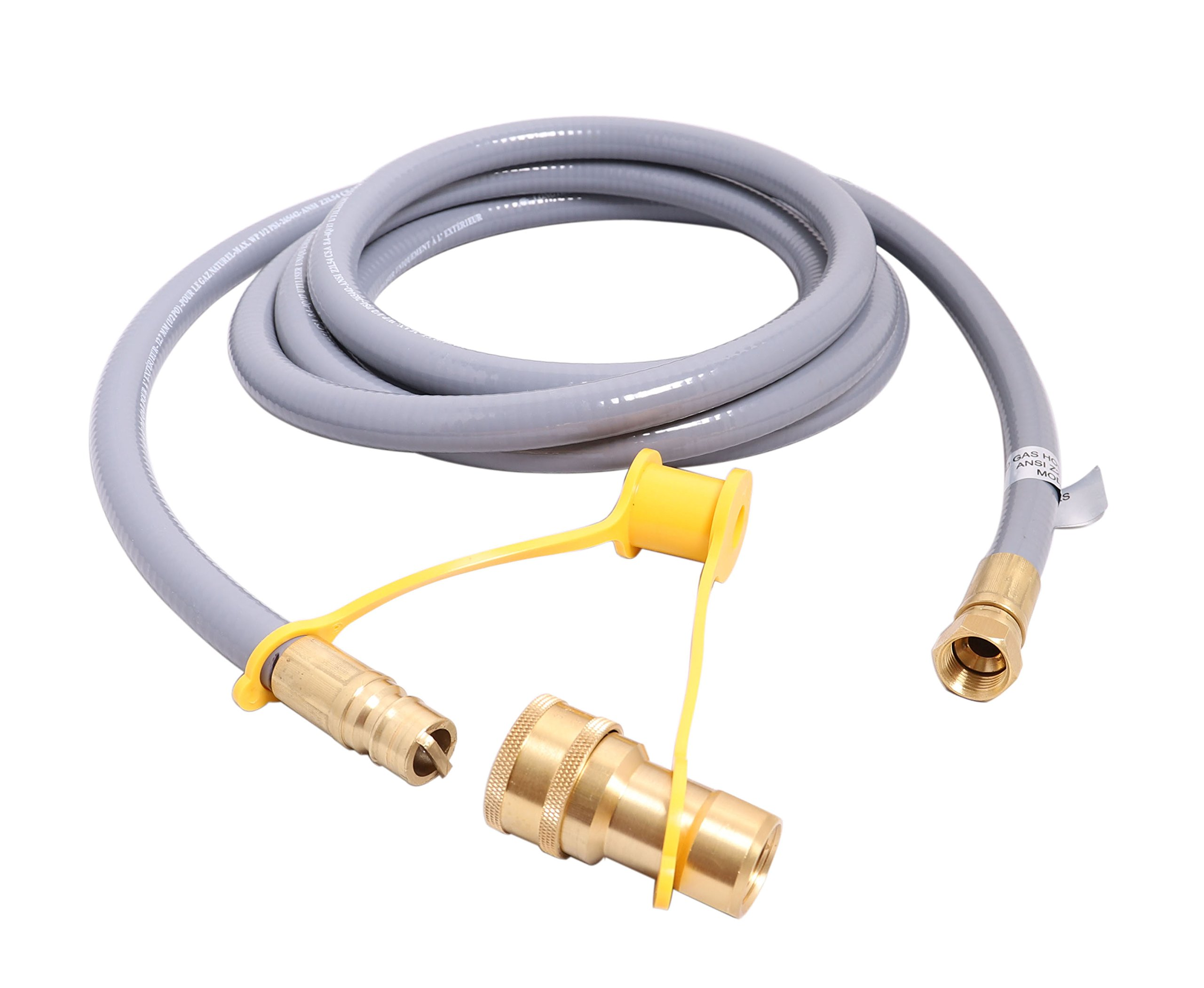 KIBOW 12Ft 1/2 Inch ID Low Pressure Natural Gas and Propane Gas Hose Assembly-CSA Certified by KIBOW