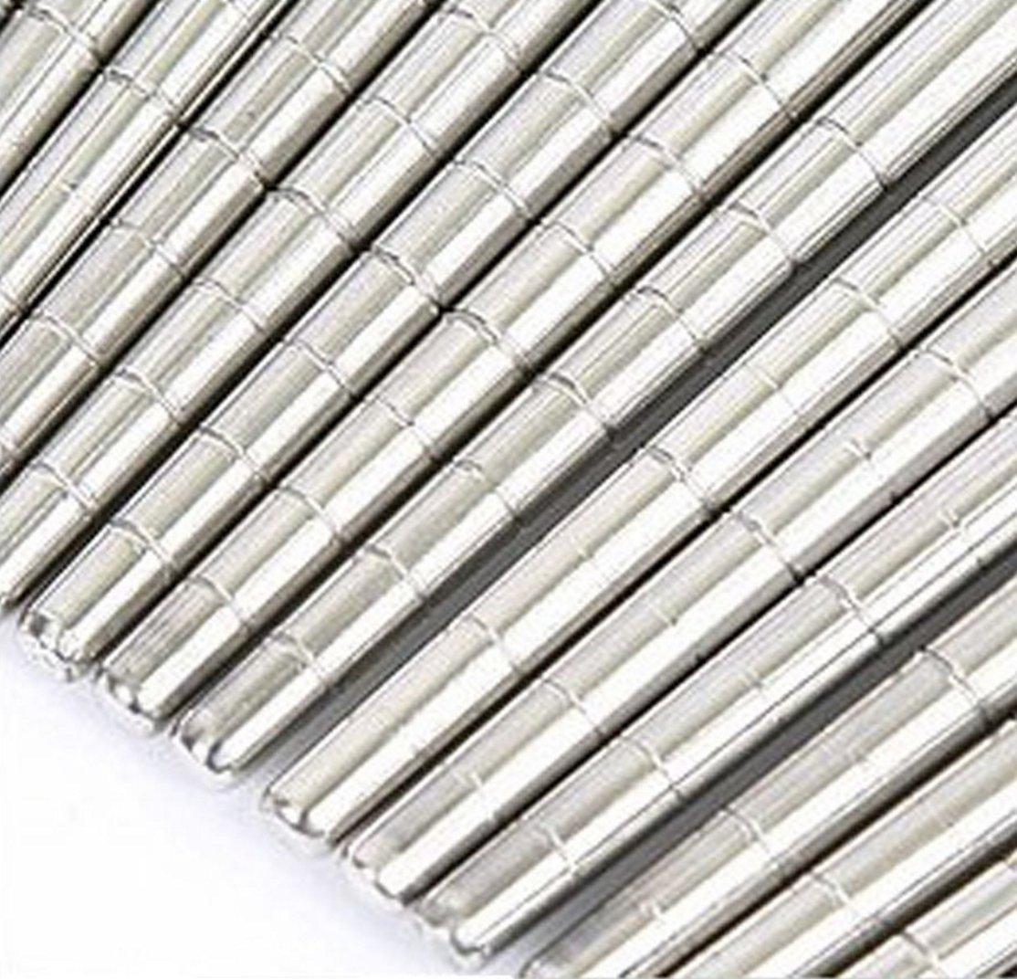 Kitchen Art Korean Chopsticks Stainless Steel 10 Pairs Vacuum Hollow Non-slip