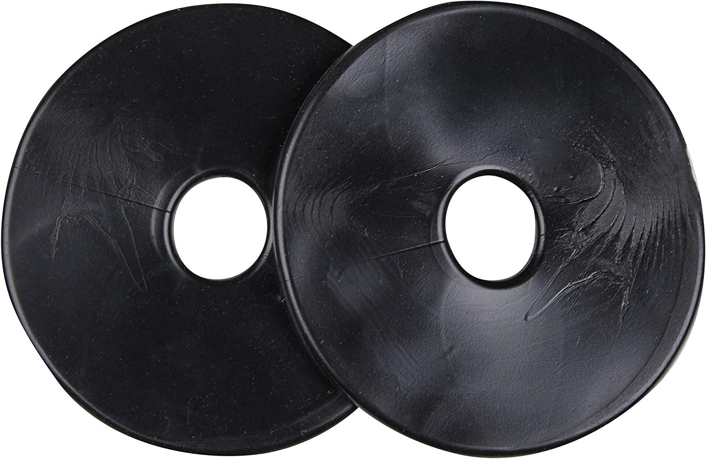 LeMieux Unisexs Silicone Bit Ring Black Pair Guards One Size