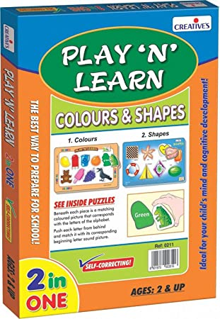 Creative's Play 'N' Learn - Colours and Shapes, Multi Color Games (Toys & Games) at amazon