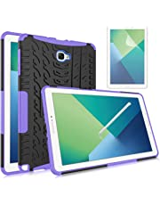 Galaxy Tab A 10.1 with S Pen Case, Mignova Heavy Duty Hybrid Protective Case with Kickstand Impact Resistant for Samsung Galaxy Tab A 10.1 with S Pen SM-P580 SM-P585 + Screen Protector Film (Purple)