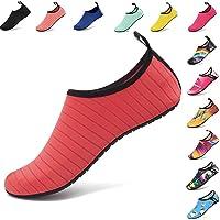 AGOLOD Hommes Femmes Chaussures d'eau Poids Léger Séchage Rapide Pieds Nus Chaussures de Plage Et Piscine Chaussons de Sport Aquatique