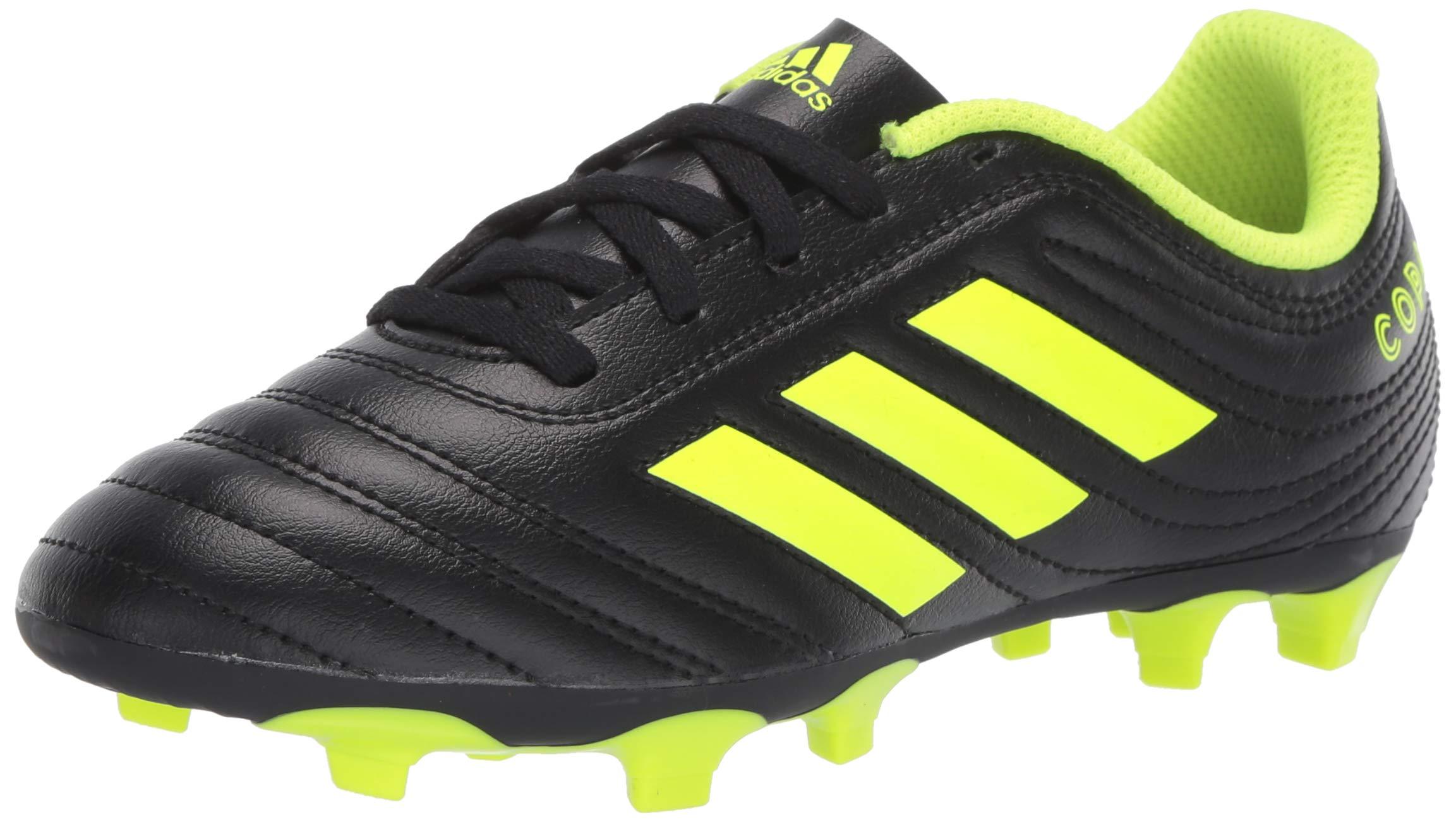 adidas Unisex Copa 19.4 Firm Ground, Black/Solar Yellow/Black, 13K M US Little Kid