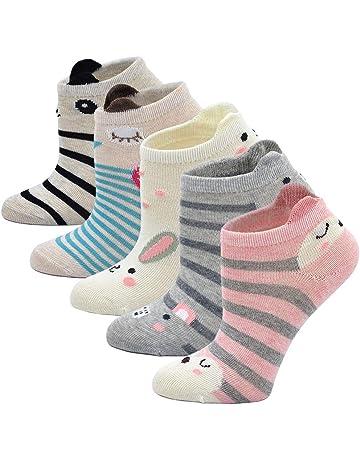 Animale Cartone Animato Calze Novit/à Crew Caviglia Calze per Ragazze 2-11 anni 5 paia LOFIR Calzini in Cotone per Bambina