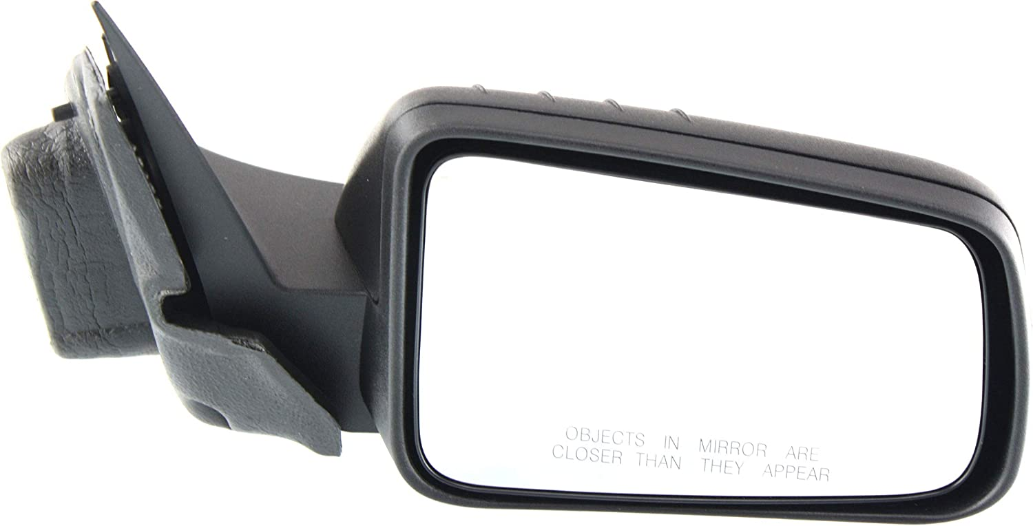 Mirror Compatible For 2008-2011 Ford Focus Right Passenger Power Glass With 1 Paintable and Textured Black Cap