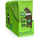 BEAR - Real Fruit Yoyos - Apple - 0.7 Ounce (12 Count) - No added Sugar, All Natural, non GMO, Gluten Free, Vegan - Healthy o
