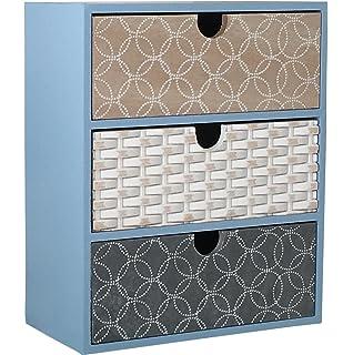 Lulu   Mini Scandinavian Desktop 3 Drawer Storage Solution (1x Blue)