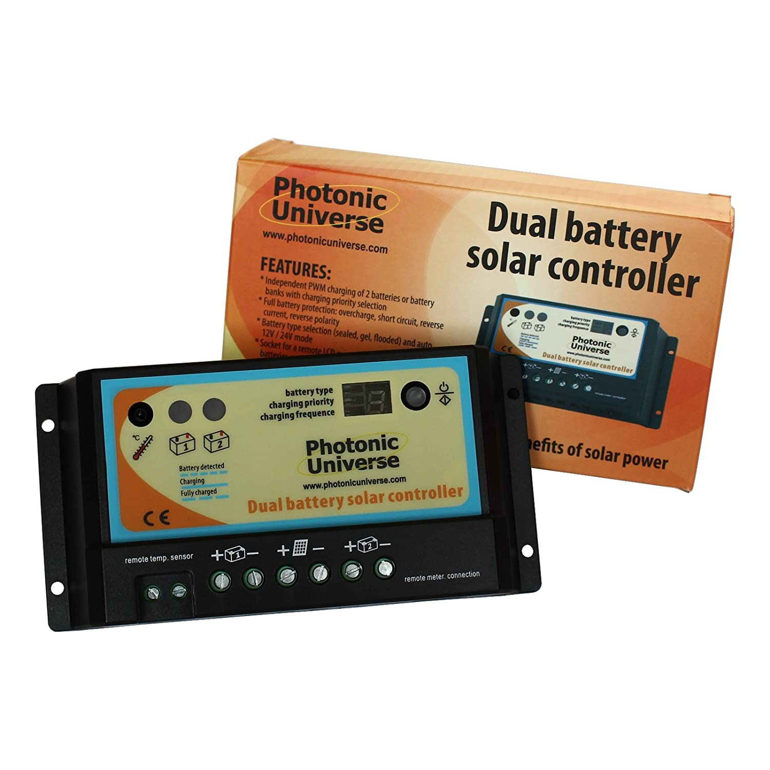 Photonic Universe 10a Dual Battery Solar Charge Controller Circuit Electronics