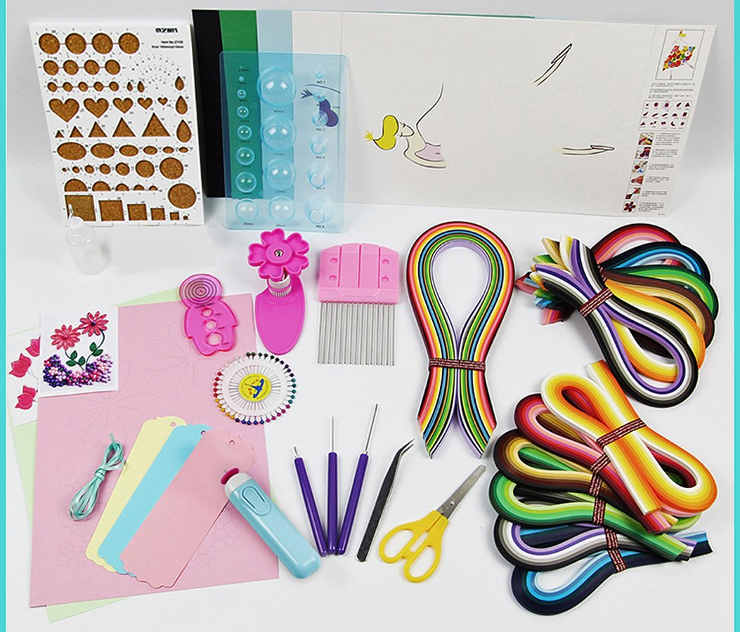 Paper Quillling Professional Craft Kits with 1560 Strips and 11 tools by Qiagraphix