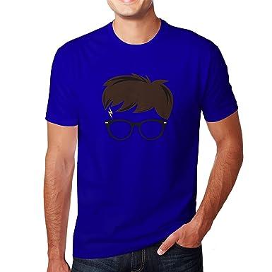 Planet Nerd Harry Scar - Herren T-Shirt, Größe S, Blau