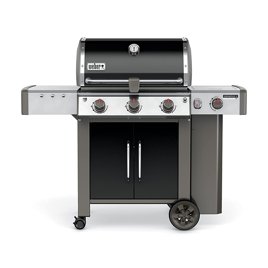 Weber 61014001 Genesis II LX E-340 Liquid Propane Grill, Black