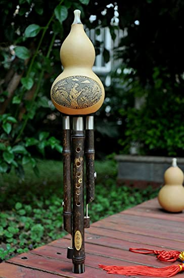 Anfang Hulusi Naturliche Kurbisflasche Gourd Robustem Bambus Flote
