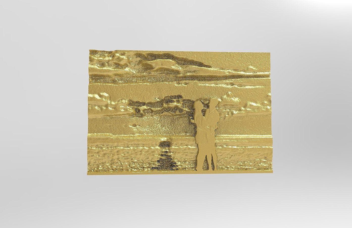 写真 イラスト 両腕カフスボタン 18Kゴールド   B01N5AX1JS