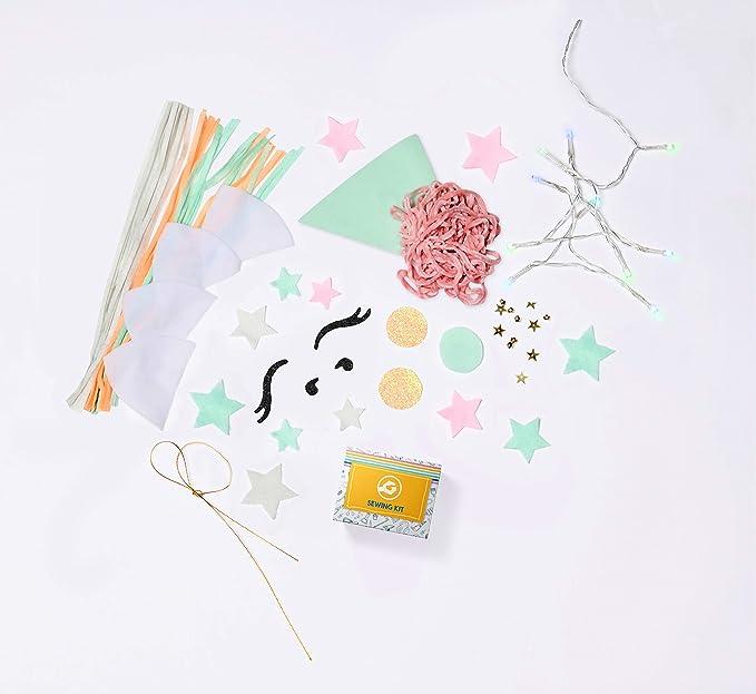 Soft /& Cuddly Educational DIY STEM Activity for Kids 8+ GoldieBlox Light-Up LED Unicorn Pillow