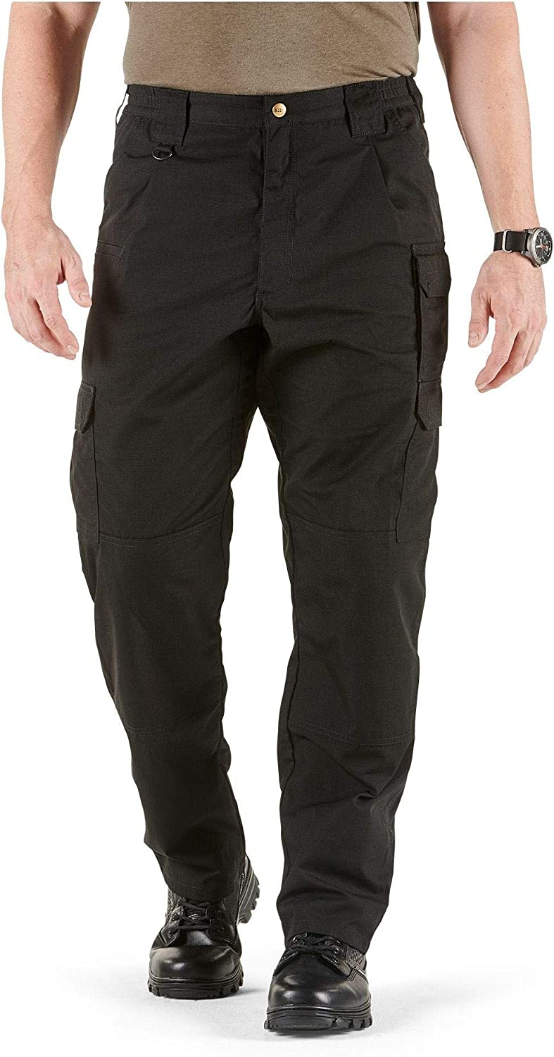 Black Cargo Pockets Style 74273 Action Waistband 28W-32L 5.11 Tactical Mens Taclite Pro Lightweight Performance Pants