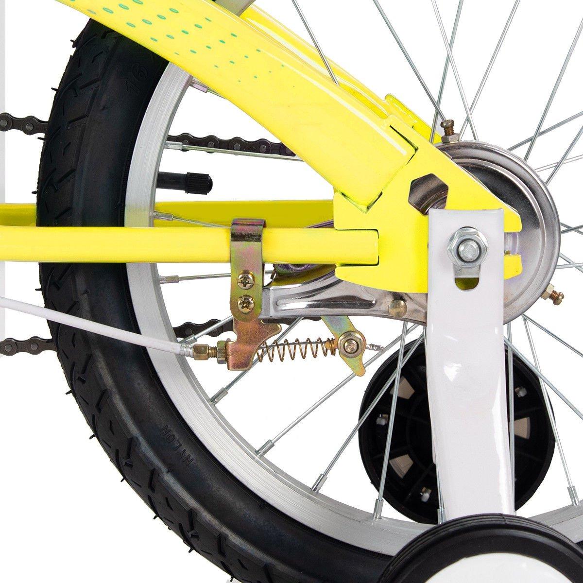FDInspiration Yellow 45'' x 31.5'' Metal Frame Kids Bike w/Training Wheels with Ebook by FDInspiration (Image #8)