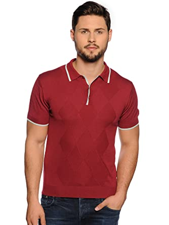 Merc Camiseta Polo Knitwear Camiseta Hombre Men Granate L: Amazon ...